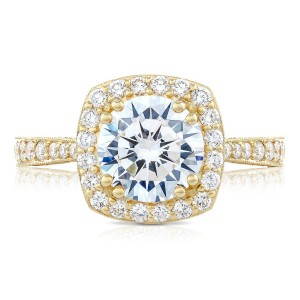 Tacori HT2650CU8Y 18 Karat RoyalT Engagement Ring