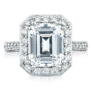 Tacori HT2650EC105X85 18 Karat RoyalT Engagement Ring