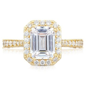 Tacori HT2650EC85X65Y 18 Karat RoyalT Engagement Ring