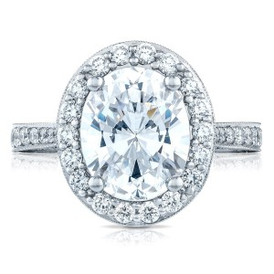 Tacori HT2650OV11X9 18 Karat RoyalT Engagement Ring