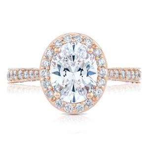 Tacori HT2650OV9X7PK 18 Karat RoyalT Engagement Ring