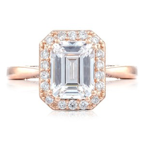 Tacori HT2651EC85X65PK 18 Karat RoyalT Engagement Ring