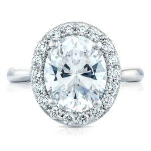 Tacori HT2651OV11X9 18 Karat RoyalT Engagement Ring