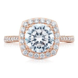 Tacori HT2652CU8PK 18 Karat RoyalT Engagement Ring