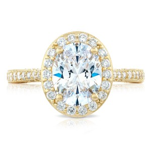 Tacori HT2652OV9X7Y 18 Karat RoyalT Engagement Ring