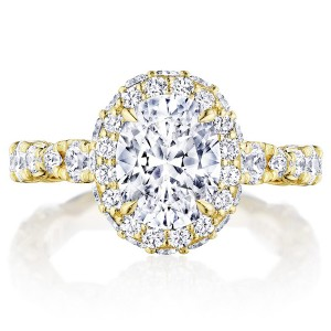 Tacori HT2653OV9X7Y 18 Karat RoyalT Engagement Ring