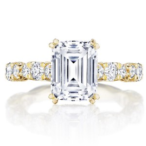 Tacori HT2654EC9X7Y 18 Karat RoyalT Engagement Ring