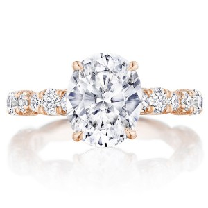 Tacori HT2654OV10X8PK 18 Karat RoyalT Engagement Ring