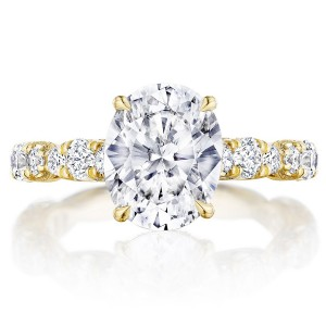 Tacori HT2654OV10X8Y 18 Karat RoyalT Engagement Ring
