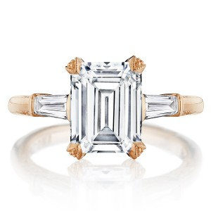 Tacori HT2657EC95X75PK 18 Karat RoyalT Engagement Ring