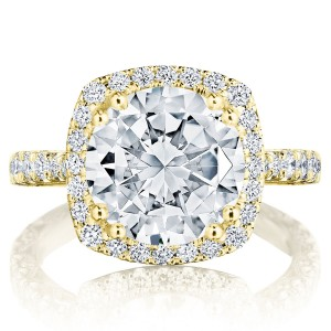 Tacori HT2670CU10Y 18 Karat RoyalT Engagement Ring