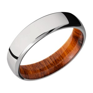 Lashbrook HWSLEEVE6DB Titanium Wedding Ring or Band
