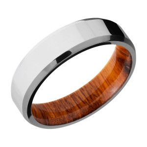 Lashbrook HWSLEEVECC6B Cobalt Chrome and Hardwood Wedding Ring or Band