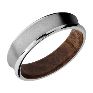 Lashbrook HWSLEEVECC6CB Cobalt Chrome and Hardwood Wedding Ring or Band