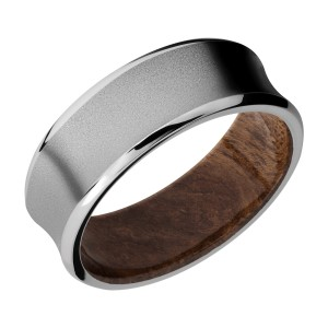 Lashbrook HWSLEEVECC8CB Cobalt Chrome and Hardwood Wedding Ring or Band