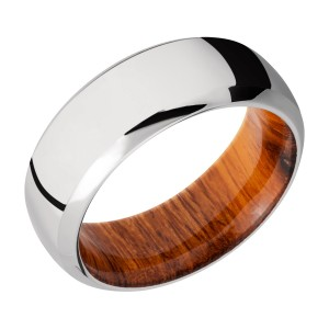 Lashbrook HWSLEEVECC8DB Cobalt Chrome and Hardwood Wedding Ring or Band