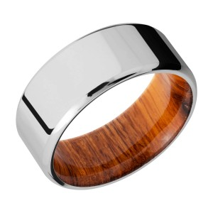 Lashbrook HWSLEEVECC9B Cobalt Chrome and Hardwood Wedding Ring or Band