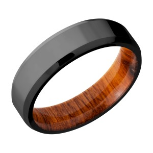 Lashbrook HWSLEEVEZ6B Zirconium Wedding Ring or Band