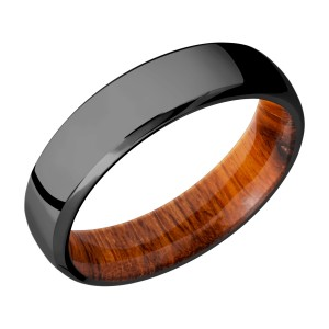 Lashbrook HWSLEEVEZ6DB Zirconium Wedding Ring or Band