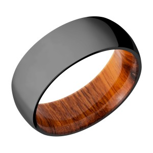 Lashbrook HWSLEEVEZ8D Zirconium Wedding Ring or Band