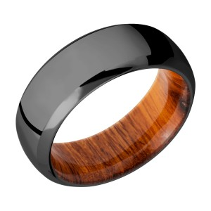 Lashbrook HWSLEEVEZ8DB Zirconium Wedding Ring or Band