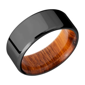 Lashbrook HWSLEEVEZ9B Zirconium Wedding Ring or Band