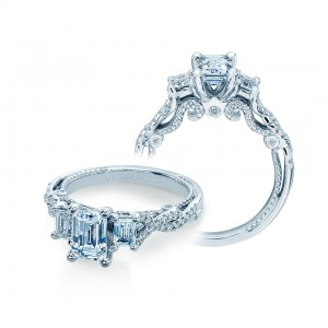 Verragio Insignia-7074EM Platinum Engagement Ring