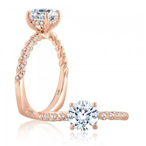 A.JAFFE 14 Karat Signature Engagement Ring MES869