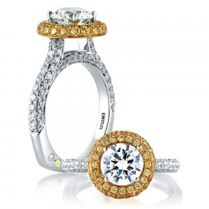 A.JAFFE 18 Karat Signature Engagement Ring MES585