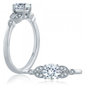 A.JAFFE Platinum Classic Engagement Ring ME1754