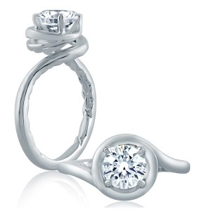 A.JAFFE Platinum Classic Engagement Ring ME2133Q