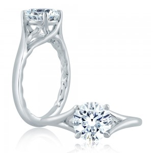 A.JAFFE Platinum Classic Engagement Ring ME2157Q