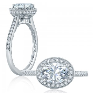 A.JAFFE Platinum Classic Engagement Ring ME2177Q