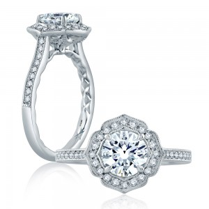 A.JAFFE Platinum Classic Engagement Ring ME2191Q