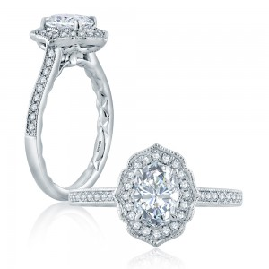 A.JAFFE Platinum Classic Engagement Ring ME2194Q