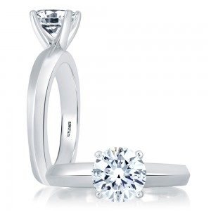 A.JAFFE Platinum Signature Engagement Ring MES391