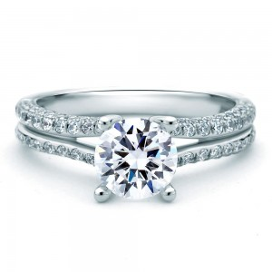 A.JAFFE Platinum Signature Engagement Ring MES519