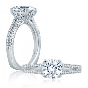 A.JAFFE Platinum Signature Engagement Ring MES860