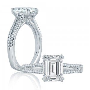 A.JAFFE Platinum Signature Engagement Ring MES861