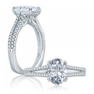 A.JAFFE Platinum Signature Engagement Ring MES862