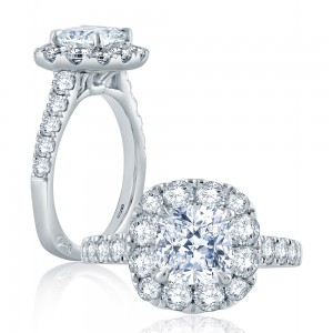 A.JAFFE Platinum Signature Engagement Ring MES864