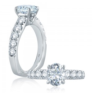 A.JAFFE Platinum Signature Engagement Ring MES865