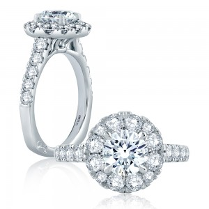 A.JAFFE Platinum Signature Engagement Ring MES866