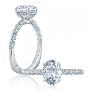 A.JAFFE Platinum Signature Engagement Ring MES867