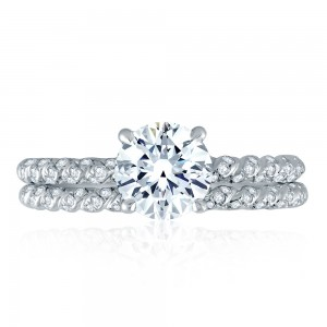 A.JAFFE Platinum Signature Engagement Ring MES869