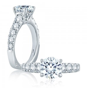 A.JAFFE Platinum Signature Engagement Ring MES870