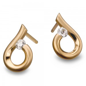 Kretchmer 18 Karat Moon Drop Tension Set Earrings