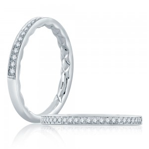A.JAFFE 18 Karat Classic Diamond Wedding Ring MR2184Q