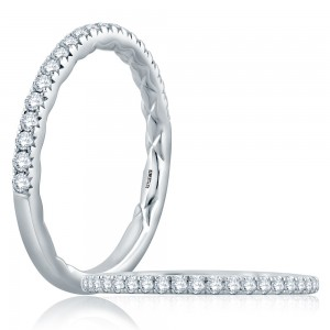 A.JAFFE Platinum Classic Diamond Wedding Ring MR2179Q