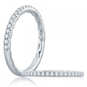A.JAFFE Platinum Classic Diamond Wedding Ring MR2185Q
